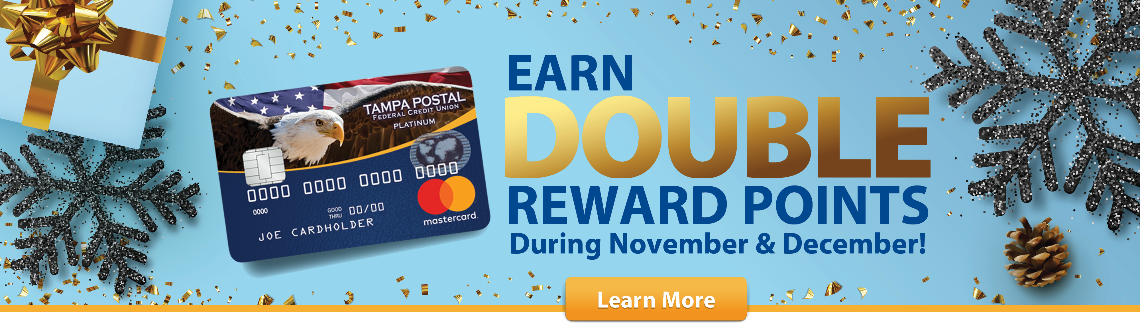Earn double reward points during November and December