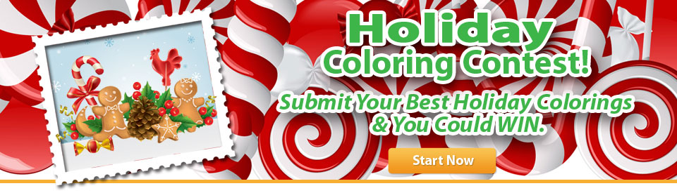 Holiday coloring contest. Submit your best holiday colorings and you could win