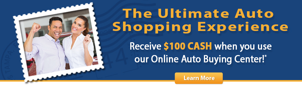 Receive $100 cash when you use our online auto buying center